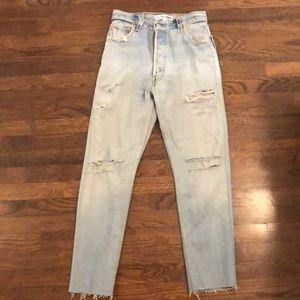 Re/Done Crop High Rise Jean
